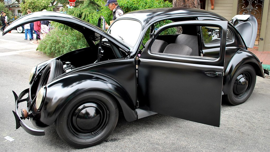 1946 Volkswagen Beetle | Black on black on black. Possible n… | Flickr