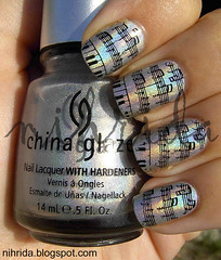 China Glaze OMG (konad IP M73) | by nihrida