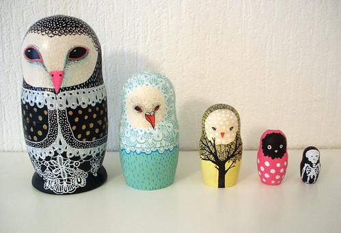 Owl Nest Owl Nesting Dolls | by The