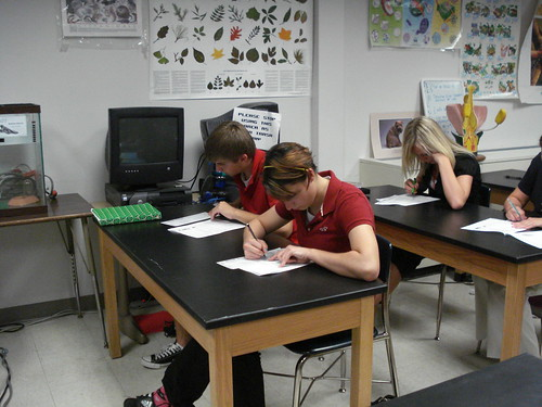 Students Taking a Test | by biologycorner