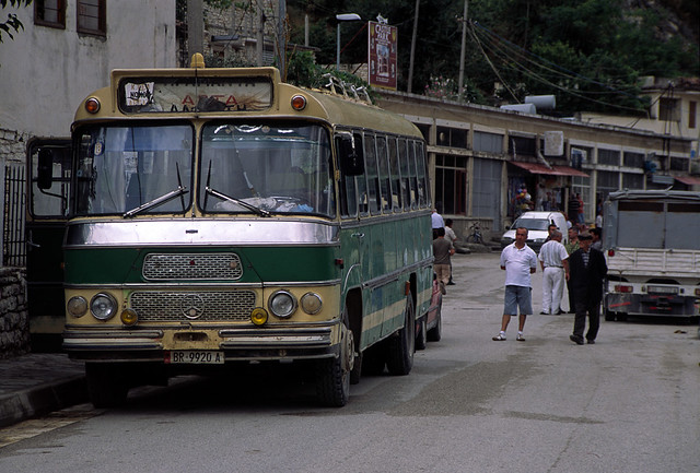 Berat albania old mercedes bus berat the town of a for Mercedes benz albania