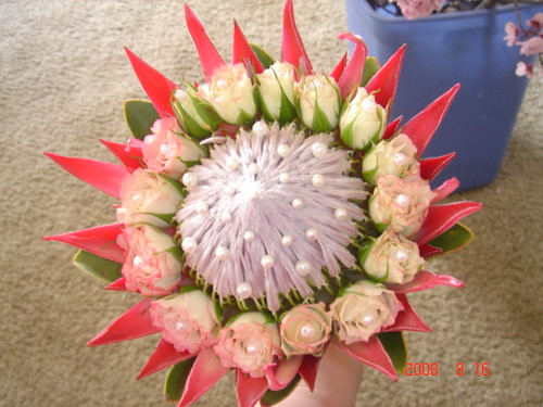 King protea bridal bouquet flickr photo sharing for King protea flower arrangements