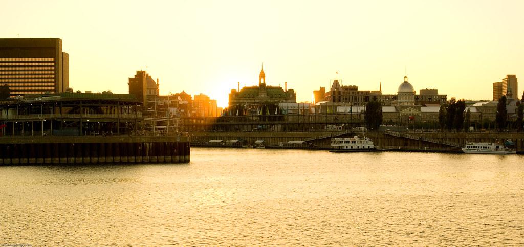 Coucher de soleil au vieux montreal emmanuel huybrechts - Coucher de soleil montreal ...