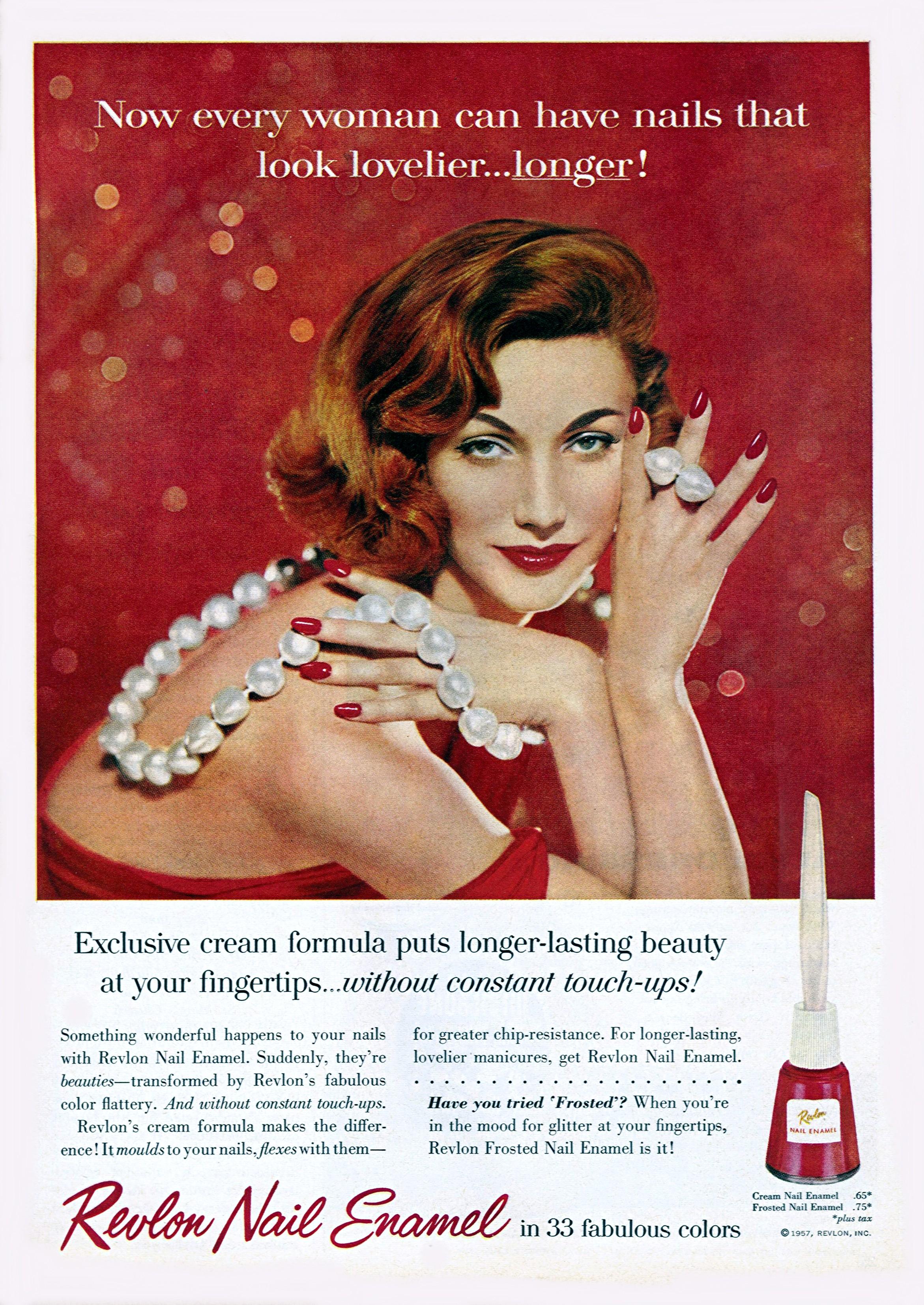 Revlon Nail Enamel - published in Good Housekeeping - May 1957