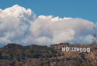 hollywood sign station fire | by Anthony Citrano