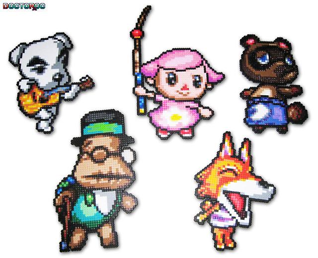 Animal Crossing Bead Sprites | Five Custom Animal Crossing ... - Pixel Art Animal Crossing