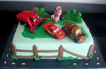 Lightning Mcqueen And Mater Birthday Cakes