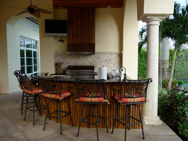 Man Cave Bar And Grill : Outdoor bamboo bar bbq grill florida clubhouse patio