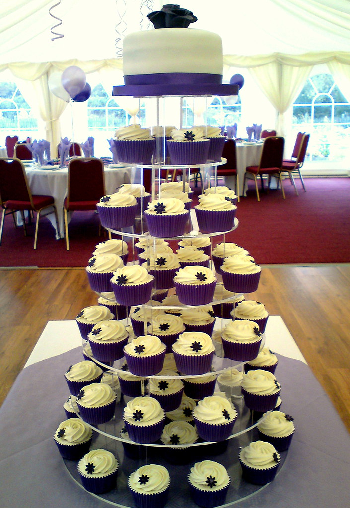wedding cake and cupcakes purple purple wedding cupcakes and cutting cake 6 quot vanilla 21733
