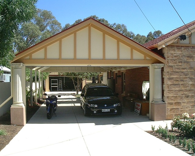 Carport timber gable 37 gable roof carport with pillars for Gable roof carport