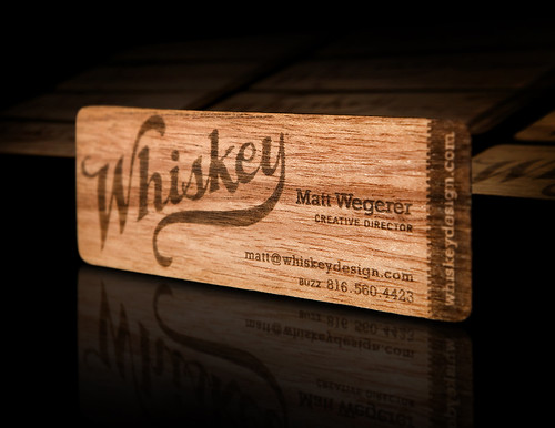 Whiskey Design's Wood Business Card (2009-2012) | by Whiskey Design