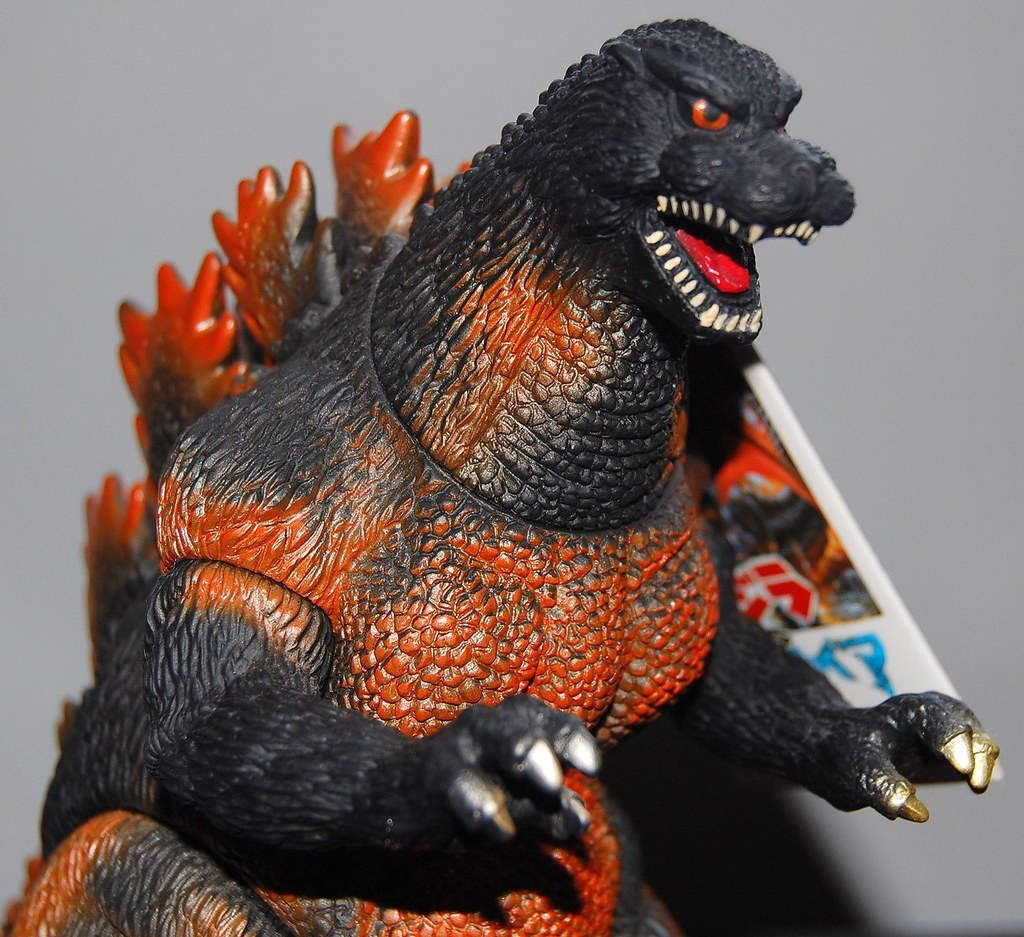 Bandai Godzilla 1995 [1995] Close-up | 1995 would mark the ...