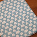 Hippos on Blue Japanese Fabric - HALF YARD  Thick Cotton