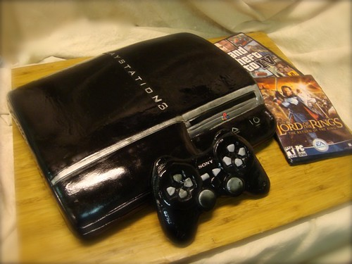 playstation 3 cake | by debbiedoescakes