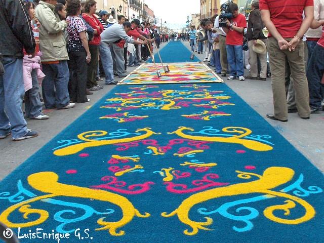 Tapete azul huamantla tlaxcala m xico tapetes y Alfombras persas en mexico