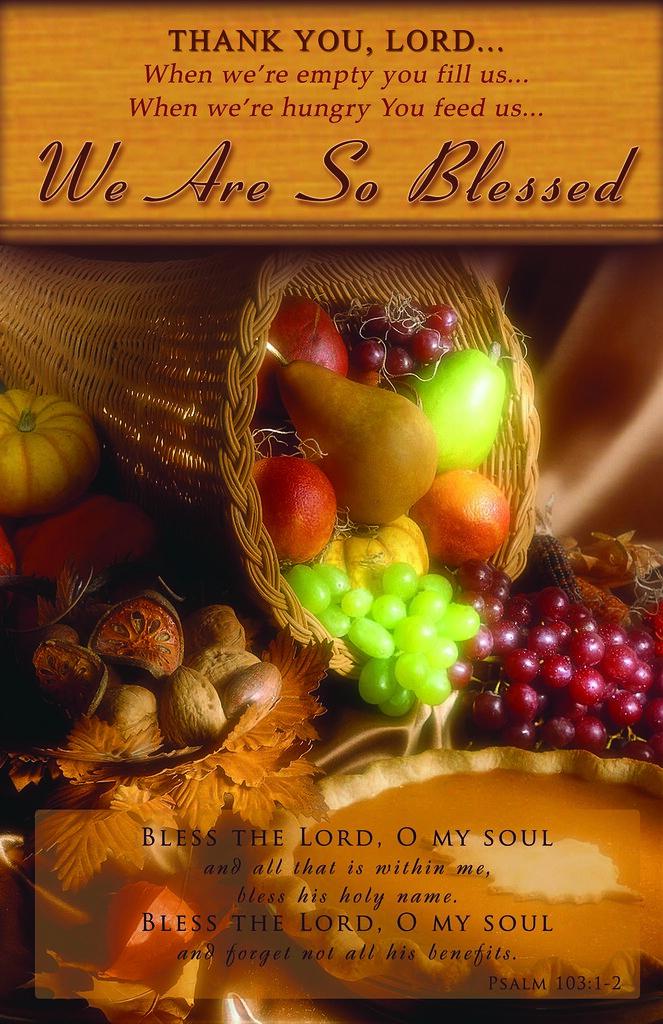 Thanksgiving Bulletin Cover Bulletin Cover
