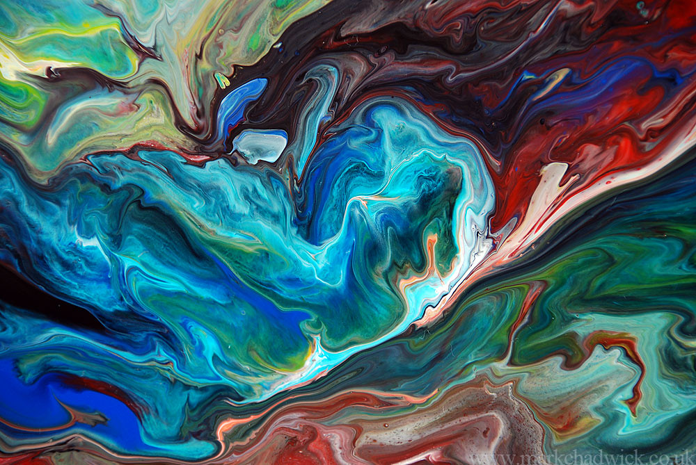 Abstract Oil Painting Desktop Wallpaper