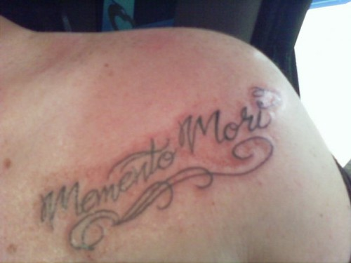 New Tattoo Memento Mori On My Left Shoulder Beneath My Flickr