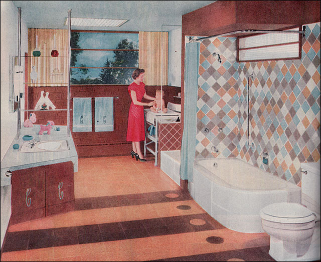 1953 Crane Bathroom This Ad Better Homes Gardens Shows Flickr