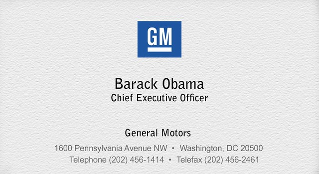 Barack obamas new business card government motors they flickr barack obamas new business card by houstonvideo colourmoves