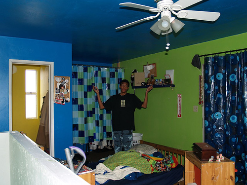 Boys green and blue bedroom crysticouture flickr for Bedroom interior designs green