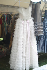 Vintage White Ruffled Prom Dress | by such pretty things
