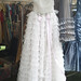 Vintage White Ruffled Prom Dress