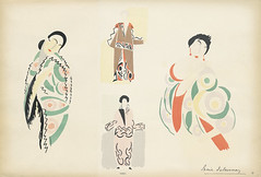 Sonia Delaunay Fashion Illustration | by FIT Library Department of Special Collections