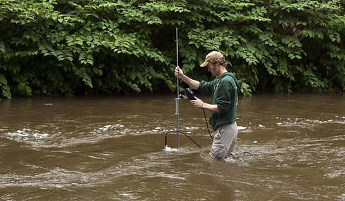 measuring flood flow