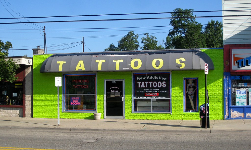 New addiction tattoos michigan avenue kalamazoo flickr for Tattoo artists kalamazoo mi