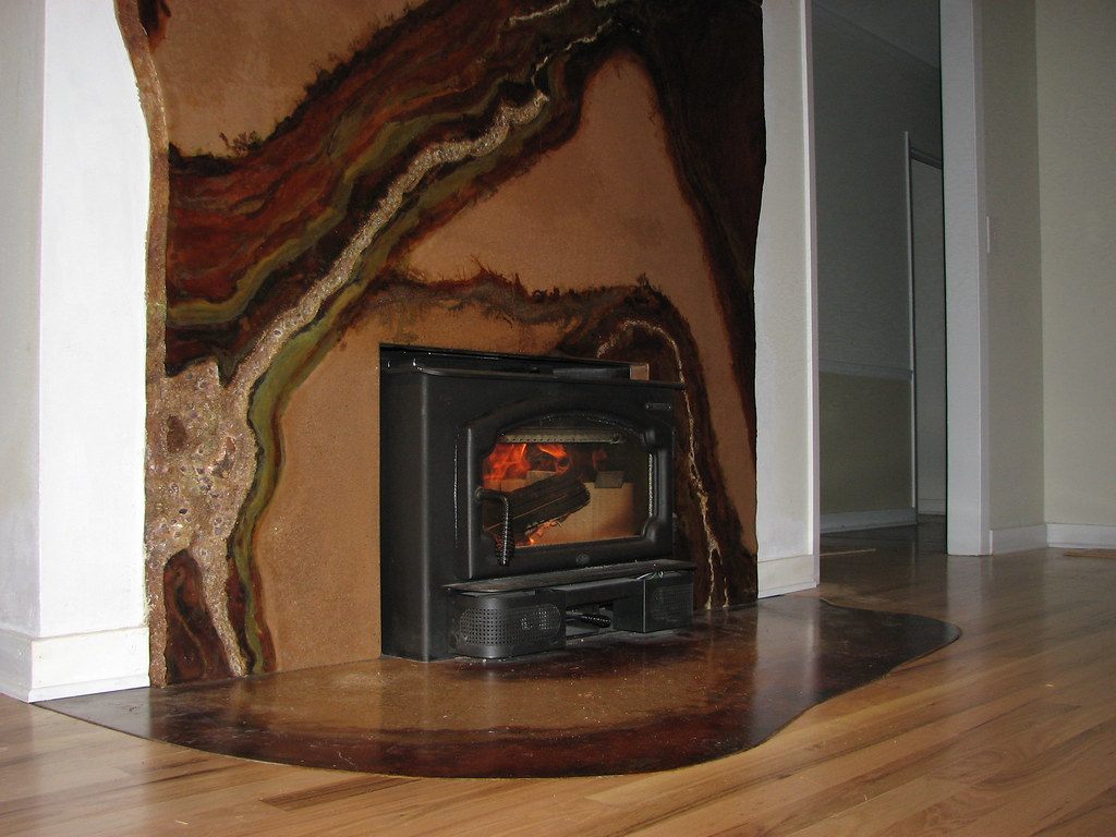 concrete hearth and fireplace surround with amethyst and c u2026 flickr