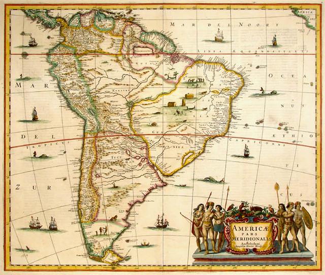 mapa historico Mapa histórico de América del Sur | Janssonius (?) | Douglas  mapa historico