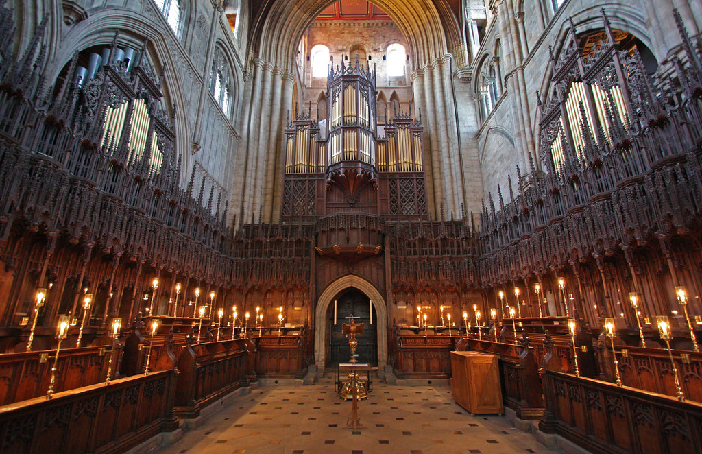 Ripon Cathedral Choir Stalls Built By William Bromflet