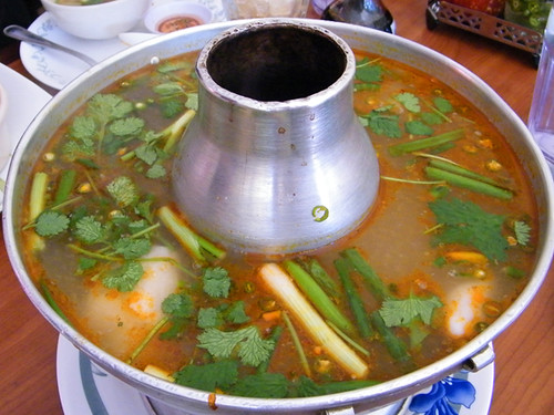 Spicy seafood soup at sri siam poh tak for Spicy fish soup