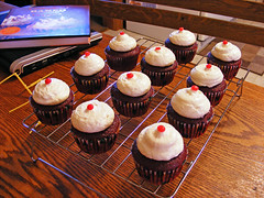 Red Hot Velvet Cupcakes (recipe from Baked) | by howtoeatacupcake.net