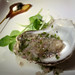 Bistro 45: Oyster with Champagne-Ginger Granita, with Potato Lollipop, Crème Fraîche and Caviar