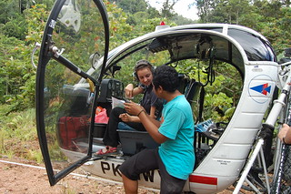 Budi Susanto (GIS Specialist) and Judith Schleicher checking on the route | by East Asia & Pacific on the rise - Blog