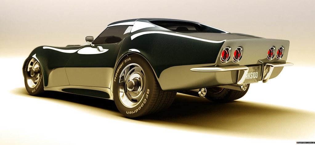 Chevy Corvette Stingray 71 Representaci 243 N En 3d Del