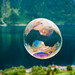 Soap bubble over the fjord