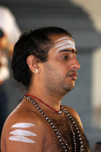 Hindu priest in a temple, Singapore | Flickr - Photo Sharing!