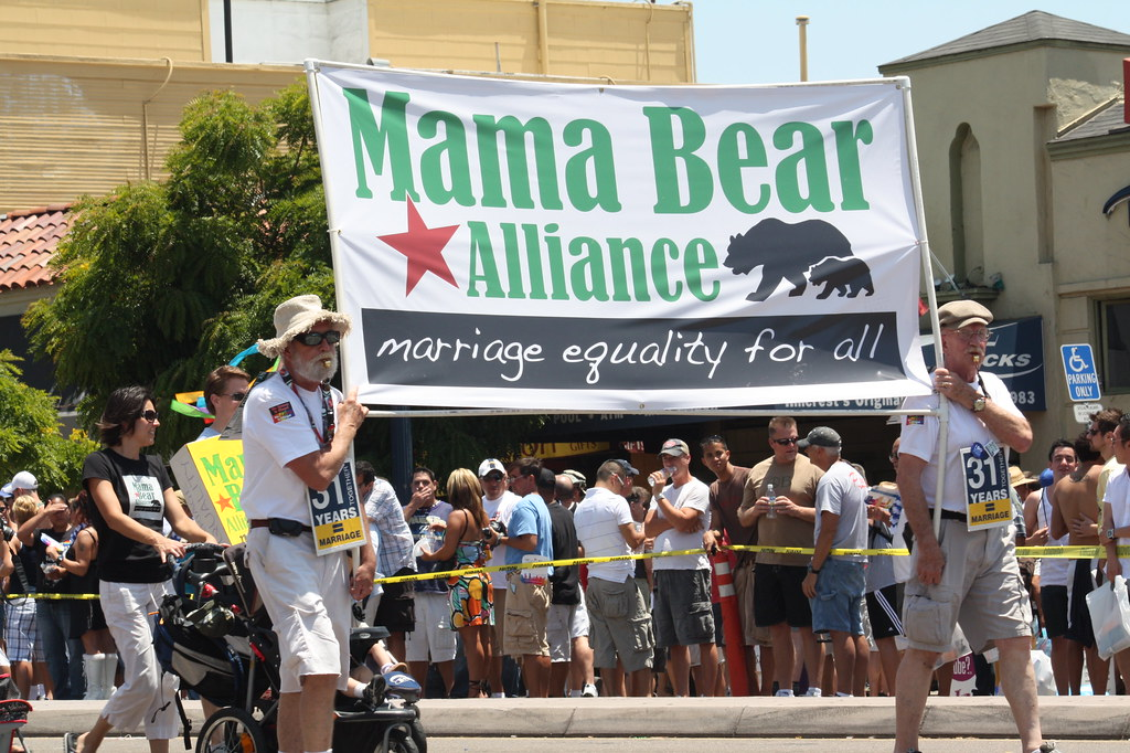 Mama bears went to san diego s pride parade this morning for Mama s kitchen san diego