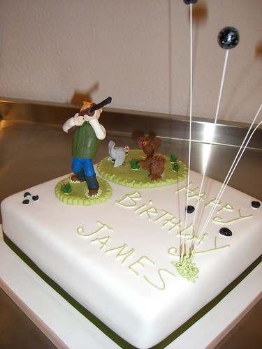 Clay Pigeon Shooter Birthday Cake By Rebecca S Tastebuds