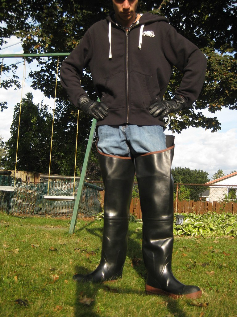 Acton Protecto Hip Waders Boots On A Sunny Day My