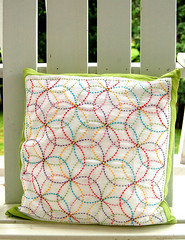 Colorful Crafting with Jen:  Rickie's Sashiko Pillow | by the purl bee
