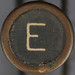 typewriter key letter E