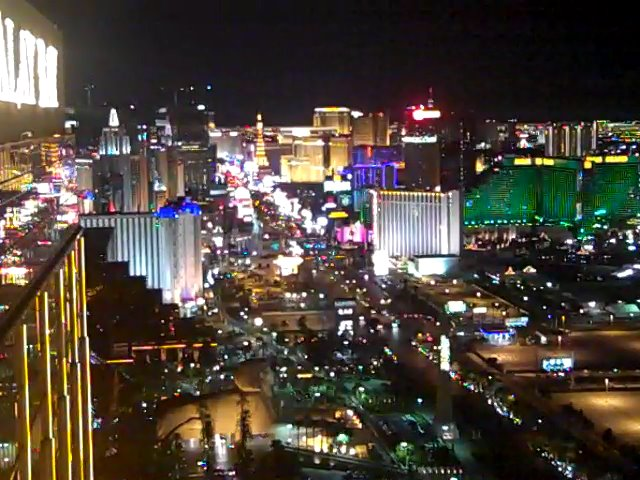 ... Las Vegas Strip - View from The Foundation Room - Mandalay Bay Casino - Las Vegas