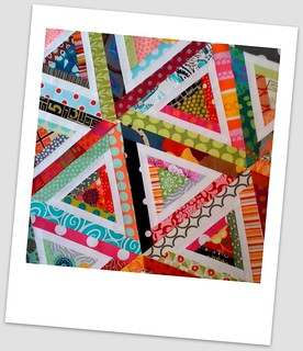 Scrappy log cabin triangles | by Lynne @ Lilys Quilts