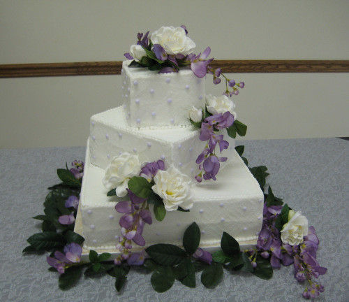 Wedding Cakes Flowers On Top Understated
