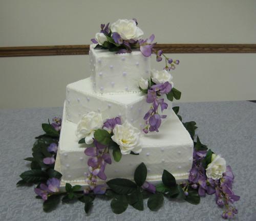 Stacked Wedding Cake Stacked Wedding Cake With
