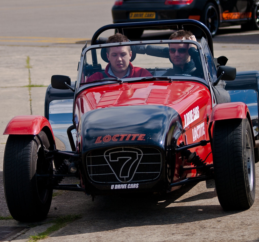 Chris Lucas In The Caterham 7 Go Kart At A